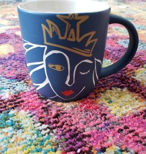 Starbucks Winking mermaid navy blue mug